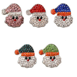 scatta per i braccialetti Sconti 18mm NOOSA Snap Button Jewelry Babbo Natale Natale Ginger Snap Babbo Natale Chunks Fit DIY Snap Bracciale regalo di Natale