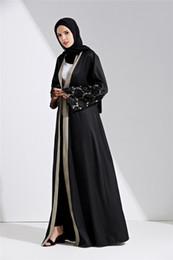 2019 más tamaño maxi cardigans Moda islámica de encaje de costura musulmana jubah hembra árabe de alta calidad más el tamaño de cardigan musulmán maxi abayas más tamaño maxi cardigans baratos