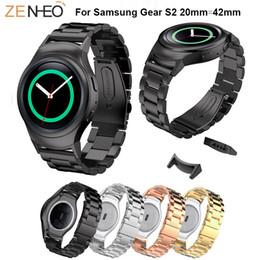 2019 elenca le mele Polsino in acciaio inossidabile colorato WatchBand per Samsung Gear S2 Cinturino orologio 42mm per Samsung Gear S2 Smart Watch Bracciale da polso