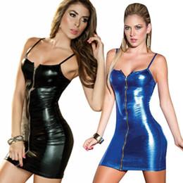 f4c1cdd5cf56 Vestido De Cuero Con Cremallera Frontal Online | Vestido De Cuero ...