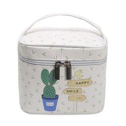 Косметические сумки полька-точка онлайн-Sweet Box For Cosmetic Polka Dot Набор туалетных принадлежностей Функциональная сумка для макияжа Портативный косметичка Neceser Grande