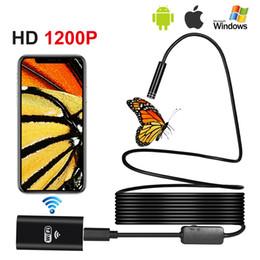 cable de la cámara de inspección de vídeo Rebajas 8 MM HD Wifi Endoscopio Android IOS Impermeable WIFI Cámara de Inspección Borescope Snake Video Cam Construido en Batería Cable Duro