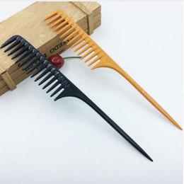 onda mágica atacado escova Desconto 1 pc 2 cores profissional pente cauda pente para salão de cabeleireiro seção escova de cabelo ferramenta de cabeleireiro diy cabelo dentes largos pentes