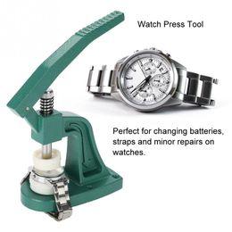 2019 orologi per il caso di parti Crystal Watch Press Tool Orologio da polso Back Case Cover Pressing with Dies Strumento di riparazione professionale parti di strumenti per orologiai a orologi per il caso di parti economici