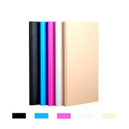 аккумуляторы мобильные iphone Скидка Metal Slim Power Bank 20000 мАч Портативное зарядное устройство для мобильных устройств 2 порта USB Аварийное зарядное устройство для Iphone 7 Samsung HTC Xiaomi Huawei