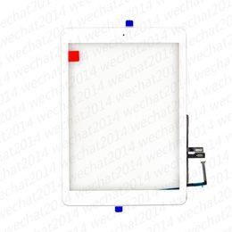 2019 paneles táctiles Nuevo panel de pantalla táctil de vidrio con botones de inicio digitalizador para iPad 6 6th 2018 A1893 A1954 DHL gratis paneles táctiles baratos