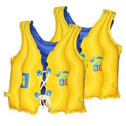 Старая детская жилетка онлайн-Baby Kid Float Надувной жилет для плавания Прогулки на лодках Куртка для выживания Водный плавательный жилет Спасательный жилет Помощь на 3-6 лет