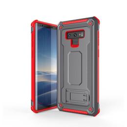 Nota de la caja del teléfono celular online-Para iphone Xs Max Xr X Samsung S9 Note 9 note8 A5 A7 WHybrid Armor Clip Kickstand A prueba de golpes Estuches para teléfonos