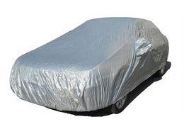 2019 daewoo lanos Cobertura de carro Sombrinha À Prova de Poeira À Prova D 'Água Auto Veículo de Segurança Roupas Protetor de Superfície tampa de Neve de Prata Respirável revestido de vestuário