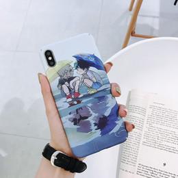 iphone аниме Скидка Для Iphone Xs Max Xr Чехол для телефона Cartoon Anime Hero College 6 7 8 X Plus Обложка для ПК Все включено Жесткие чехлы для мобильных телефонов