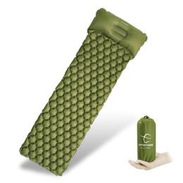 Colchón de picnic online-colchón para dormir Colchón para dormir Colchoneta para acampar Con almohada colchón de aire picnic Cojín inflable Colchoneta para dormir Cama de aire a prueba de humedad de llenado rápido