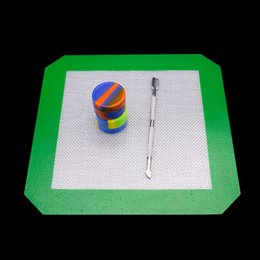 2019 ölabsaugwerkzeug Nahrungsmittelgrad-Silikonbehälter Tupfenmatte Antihaft-Öl-Zerstreuer-Extrakt-Pad trocknen Kräutermatten mit Silikonbehälter-Tupferwerkzeug rabatt ölabsaugwerkzeug
