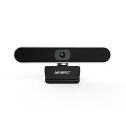 usb câmera de rede Desconto Aoni A30 1080P HD computador desktop câmera com microfone Rede doméstica smart TV camera beleza ao vivo drive livre USB