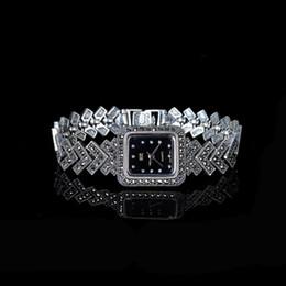 relojes de acero inoxidable Rebajas Mercancías de plata Reloj de pulsera retro de plata tailandesa al por mayor de S925 Sterling Pure Handicraft para mujeres