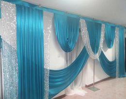 Décoration de mariage en Ligne-3M * 6M large swags de toile de fond mariage drapé décoration décoration étape décor fond styliste