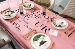 2019 tisch-overlays für hochzeiten Neuheiten göttin birne blume tischdecke esszimmer küche dekorative tuch wasserdichte baumwolllinen leicht zu waschen anti fade
