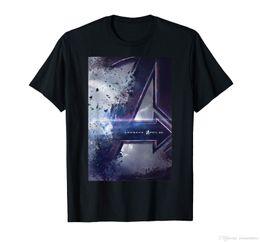 carteles de maravilla Rebajas Camiseta de Marvel Avengers Endgame Movie Poster Marvel Movie new 2019 Black