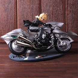 Números ação zero on-line-Anime Fate Zero Sabre Alter Altria Pendragon com Motos 1/8 Escala Pintada PVC Action Figure Modelo Brinquedos Boneca Presente