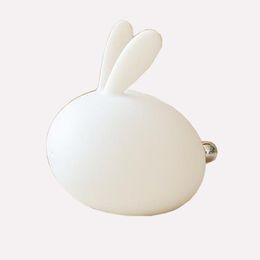 Lampes de bébé en Ligne-Veilleuse à LED pour enfants, lampe de pépinière de bébé en silicone doux de lapin sensible au contrôle du robinet multicolore pour les enfants