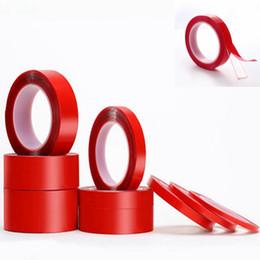 ruban double face rouge en gros Promotion 3 m de ruban adhésif double face transparent sans couture imperméable à l'eau et résistant aux températures élevées autocollant ruban adhésif Ruban adhésif clair 6mm 8mm 10mm