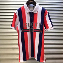 T shirt dresses cotton online-Neu Der neueste Zähler Herren High-End-Stickerei Baumwolle Mercerized T-Shirt Poloshirt Sommerkleid Sportswear Jersey Fashion Kurzarm