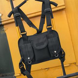Deutschland Mode Stil Schwarz Chest Rig Gürteltasche Hip Hop Street Wear Funktionelle Taktische Brusttasche C19032701 Versorgung