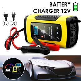 automatisches motorrad Rabatt Vollautomatisches Autobatterieladegerät 110V bis 220V bis 12V 6A LCD Smart Fast zum Aufladen von Blei-Säure-Batterien für Motorräder