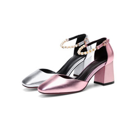 e5c6859163a new woman sandals chunky heel high top fashion design for ladies Eu size  34-39 causal shoes breathable K8085 discount silver sandals chunky heels