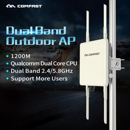 2019 синус автомобиля COMFAST 1200Mbps Двухдиапазонный Открытый AP 5 ГГц беспроводной WiFi маршрутизатор базовой staion всенаправленный CPE AP с 4 * 8dBi антенн для парка