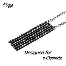 Cigarro eletrônico nova moda on-line-Deczign Novo Colar De Pingente de Cristal Malha Mulheres Cigarro Eletrônico Bolsa de Moda para JUUL DP0901B