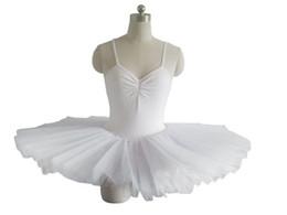 Robes de danse blanches professionnelles en Ligne-Professionnel Costume De Ballet Pour Adulte Noir / Rouge / Blanc Robe De Danse De Ballerine Femmes Vêtements De Danse De Ballet Enfant Filles Tutu
