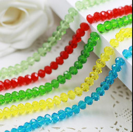 Contas de vidro facetado oval on-line-8mm beads handiwork making diy suspensão oval plana facetada cristal de vidro variouse cor espaçador talão atacado jóias acessórios 5 conjuntos