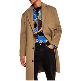 Prodotto più venduto nel 2019 Europa Autunno abbigliamento Inghilterra Cappotto di lana da uomo Cappotto da uomo di grandi dimensioni moda coreana 1320 da