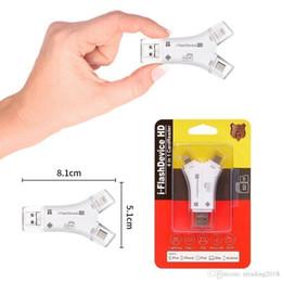Lectores de alta definición online-iFlash Drive HD Lector de tarjetas SD 4in1 i Flash Drive USB Micro SD TF Lectores de tarjetas