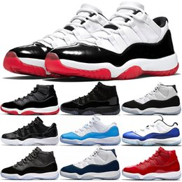 free x art Promo Codes - jumpman 11s Basketball Shoes 11 mens women trainers Stock x Concord White Bred Metallic Silver Win Like 82 96 Sports Sneakers free shipping