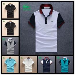 2019 pólo designer homens Camisas polo Golf Designer Confortável Slim Formal Camisas De Polo Com Mistura De Algodão Para Homens Tamanho M-XXL pólo designer homens barato