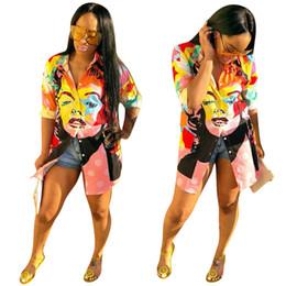 c510f00e5 Coloreado Impreso Camisa recta delgada Venta caliente Otoño Casual Mujer  Camisa con cuello alto Manga larga Blusas de un solo pecho Nuevo estilo