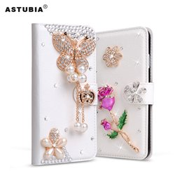 caso per leagoo Sconti Per Leagoo M8 Custodia in pelle con strass glitter per Leagoo M5 Plus Flip Diamond Custodia in rilievo per fiori con card Slot in cristallo