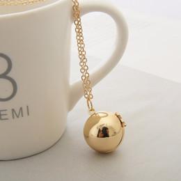 2019 armários artesanais Handmade Secret Message Bola Locket Colar de Ouro Prata Cadeia Amor Promise Amizade Jóias armários artesanais barato