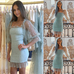 hot sexy see through dresses Promo Codes - New Style Women Dresses Sexy Mesh See Through Sleeve Bodycon Party Pencil Dress Skinny Short Mini Pure Color Fashion Hot 2019