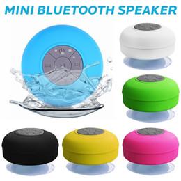 Мини Bluetooth спикер Портативная водонепроницаемая беспроводная громкая связь Душ Динамика для душей ванной Бассейн автомобиль Пляж Outdor от