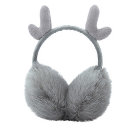 white ear muffs Promo Codes - Ear Muffs Winter Warm Ladies Earmuffs Cute Plush Solid Color After Wearing Earmuffs Winter Accessories for Women Adjustable C810