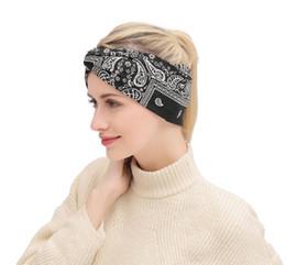 accessori dei capelli all'ingrosso giapponese Sconti DHL libero 2018 nuova fascia dei capelli di stile della Boemia Europa e in America stampa calda croce accessori per capelli della fascia 6 colori