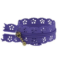 blau checked bettwäsche Rabatt 100pcs Nylon 20cm Lila Farbe Reißverschluss Spitze Nylon Oberfläche Reißverschluss für Nähen Hochzeit DressPurple