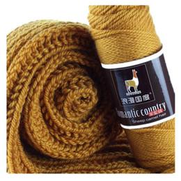Canada 100g Echarpe Barre de laine tissée à la main chapeau ligne pull manteau ligne laine alpaga en laine épaisse Offre