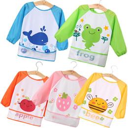 Tamanho do babador do bebê on-line-Crianças Tamanho Grande Dos Desenhos Animados Padrões Vestidos de Bebê Comendo Bib Bib À Prova D 'Água Do Bebê Comendo Acessório Infantil Burp Panos x