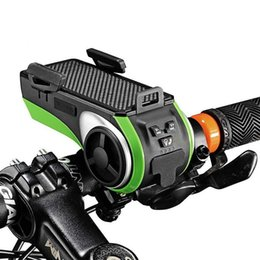 Держатель для мобильного телефона онлайн-Велосипедный держатель телефона Bluetooth динамик Smart Водонепроницаемый динамик Велосипед музыкальный плеер светодиодный фонарик Power Bike Audio Speaker LJJZ26