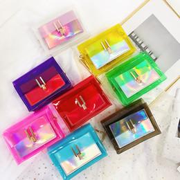 Catene di spiaggia online-8styles Laser jelly bag chain shouler viaggi estate borsa a tracolla colorato spiaggia moda donna pacchetto moneta sacchetto del telefono FFA2004