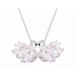 Swan ama colar on-line-Broche camisola cadeia pingente de colar dual-purpose-Romantic Swan Amor Jóias multifuncional