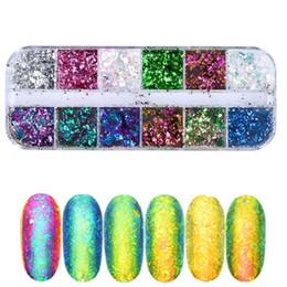 gros nail art brillant émail 12 boîte caméléon en poudre glitter poudre décoration de la belle poudre BS série set. ? partir de fabricateur